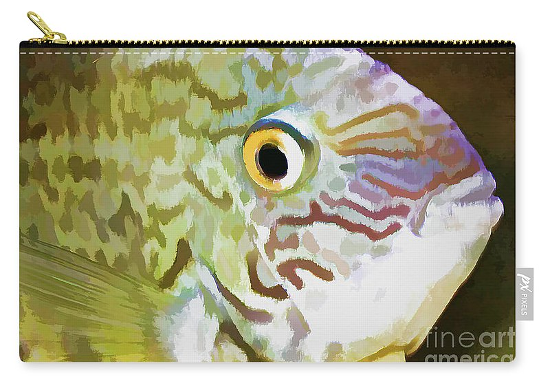 Fish Carry-all Pouch featuring the photograph The Fish by Deborah Benoit