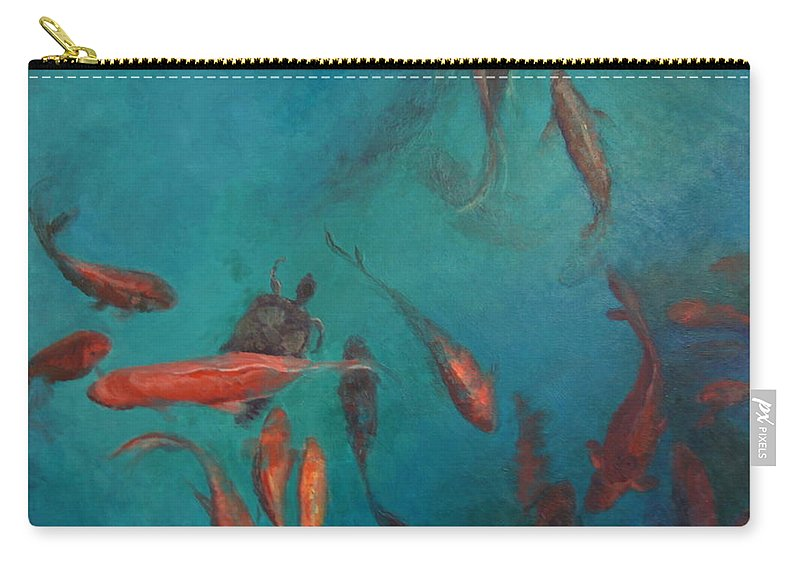Fish Carry-all Pouch featuring the painting the Fish of Cabo by Terri Messinger