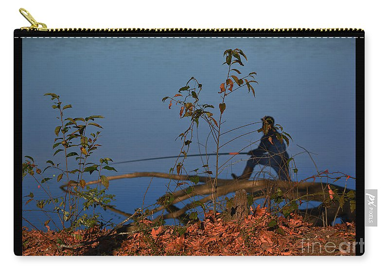 Fishing Carry-all Pouch featuring the photograph The Fisherman by Barb Dalton