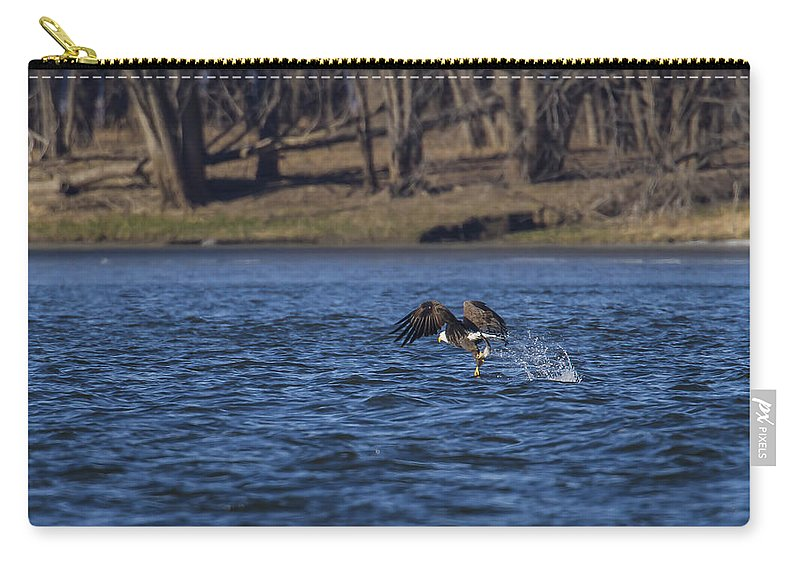 Alaska Carry-all Pouch featuring the photograph The Fisherman by Jack R Perry