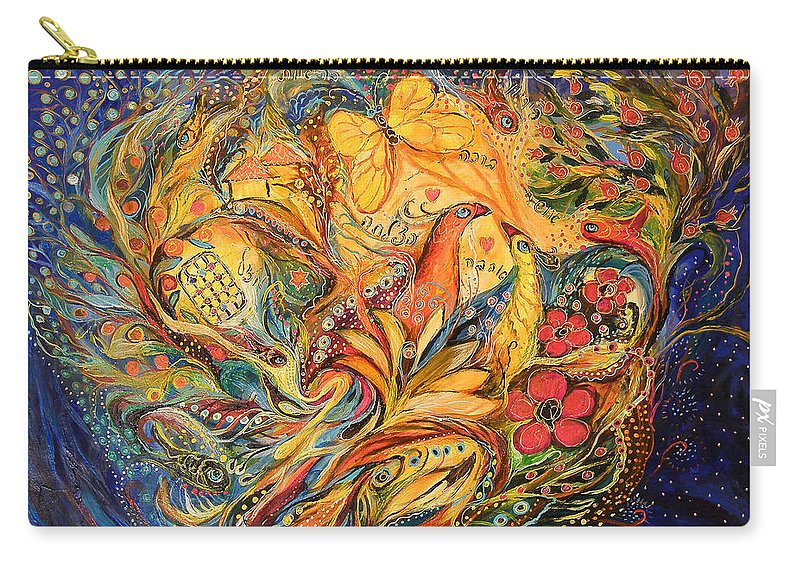 Original Carry-all Pouch featuring the painting The Fishermen Village by Elena Kotliarker