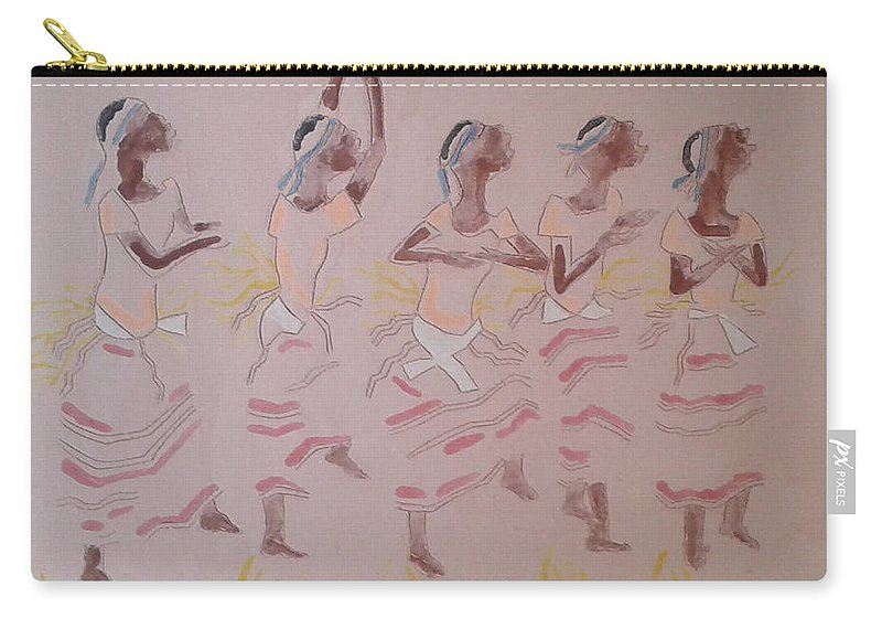 Jesus Carry-all Pouch featuring the painting The Five Wise Virgins by Gloria Ssali
