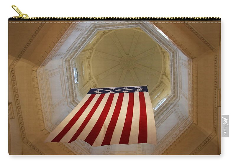 Flag Carry-all Pouch featuring the photograph The Flag - Maryland State House by Christiane Schulze Art And Photography