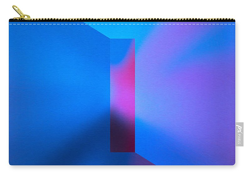 The Focus Carry-all Pouch featuring the digital art The Focus - Blue by Mihaela Stancu