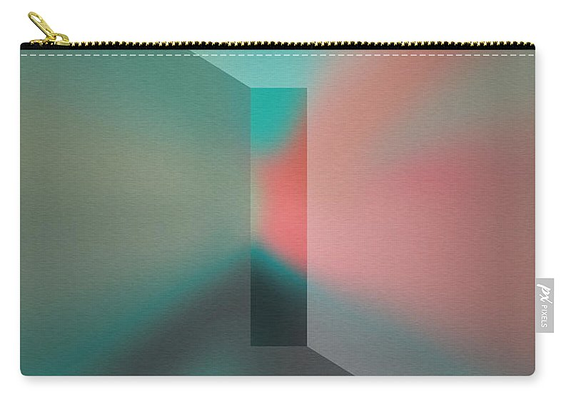 The Focus Carry-all Pouch featuring the digital art The Focus - Green by Mihaela Stancu