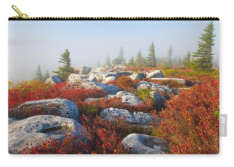 Dolly Sods Carry-all Pouch featuring the photograph The Fog Clears At Dolly Sods by Bill Swindaman
