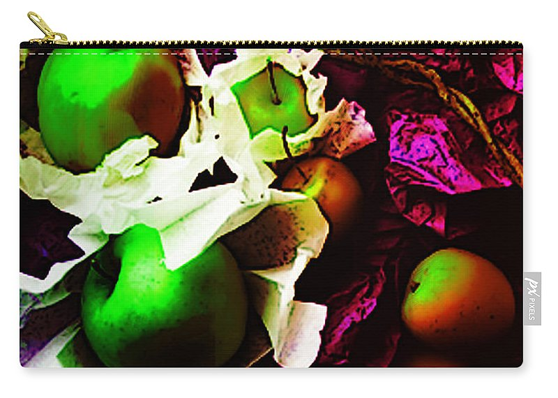 Apples Image Carry-all Pouch featuring the digital art The Forbidden Fruit II by Yael VanGruber
