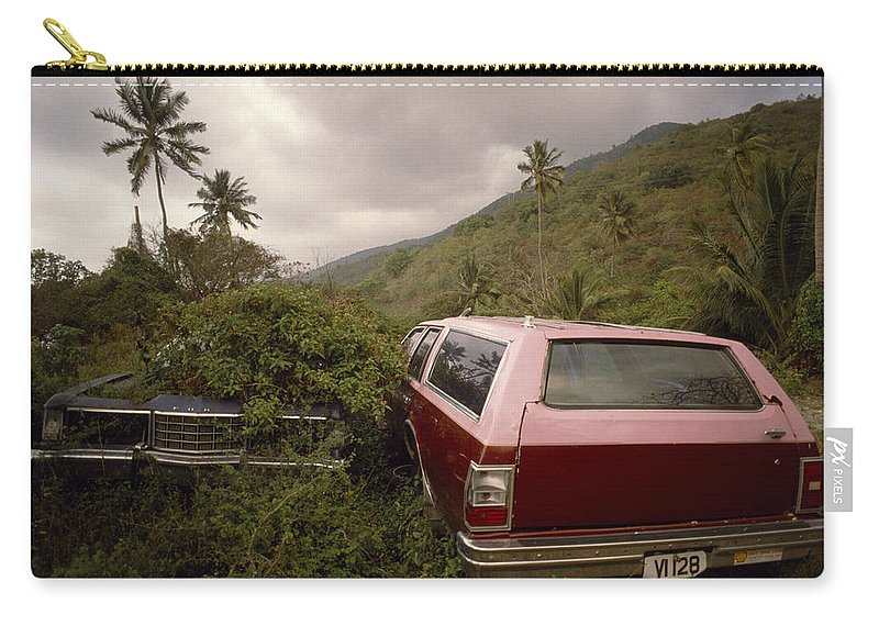 Car Carry-all Pouch featuring the photograph The Forsaken Cars by Shaun Higson
