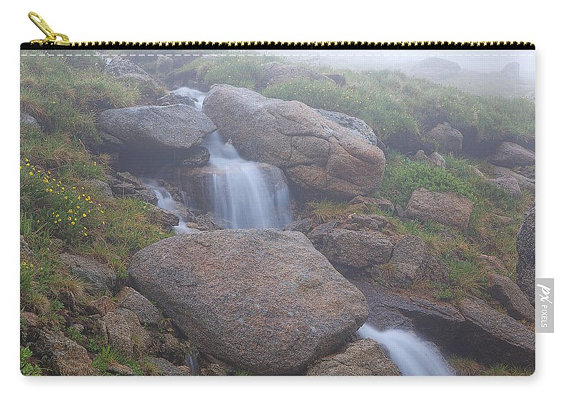 Mt. Evans Photograph Carry-all Pouch featuring the photograph The Fountain by Jim Garrison