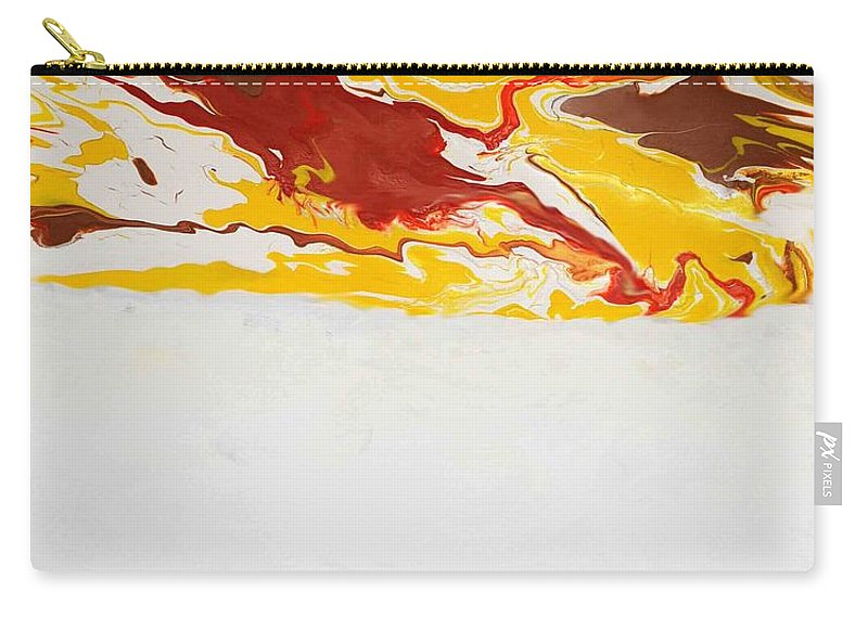 Abstract Carry-all Pouch featuring the painting The Free Spirit 5 by Sonali Kukreja
