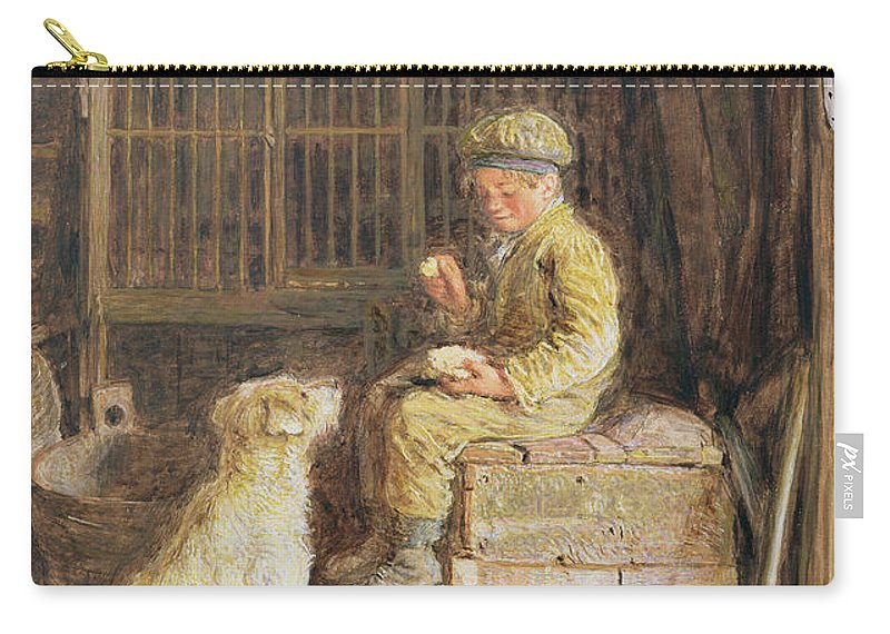 Barn Carry-all Pouch featuring the painting The Frugal Meal by William Henry Hunt