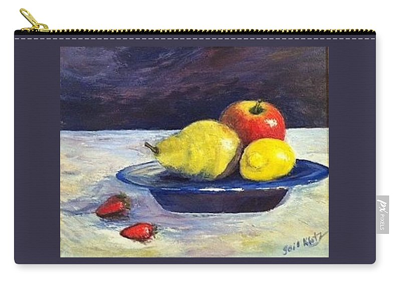Apples Carry-all Pouch featuring the painting The Fruit Bowl by Gail Kirtz