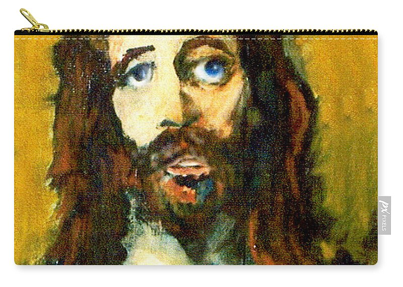 Jesus Christ Carry-all Pouch featuring the painting The Galilean by Seth Weaver