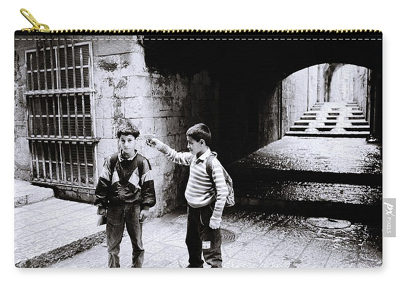 Childhood Carry-all Pouch featuring the photograph Execution by Shaun Higson