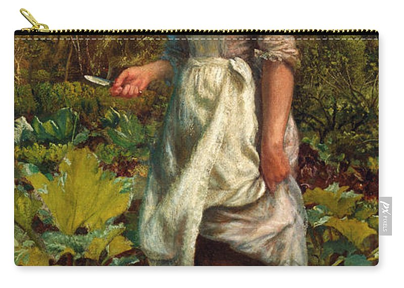 Arthur Hughes Carry-all Pouch featuring the digital art The Gardeners Daughter by Arthur Hughes