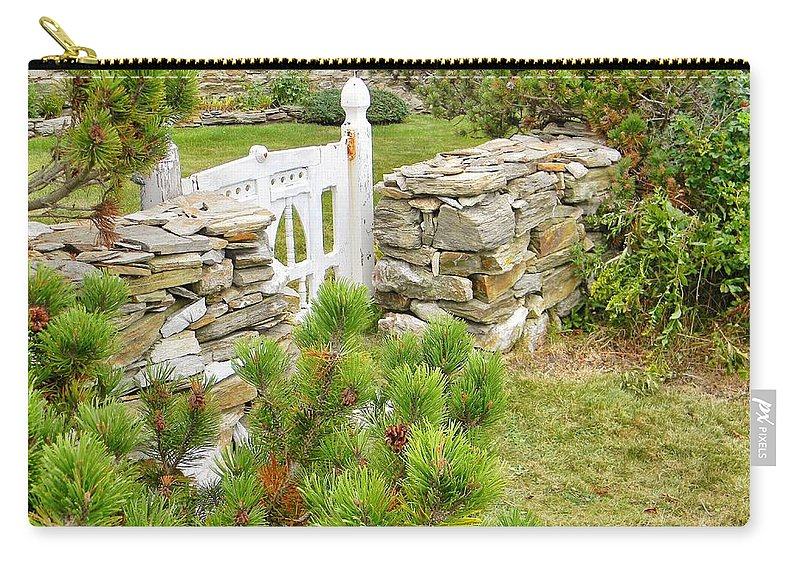 Gate Carry-all Pouch featuring the photograph The Gate By The Sea by Jean Goodwin Brooks