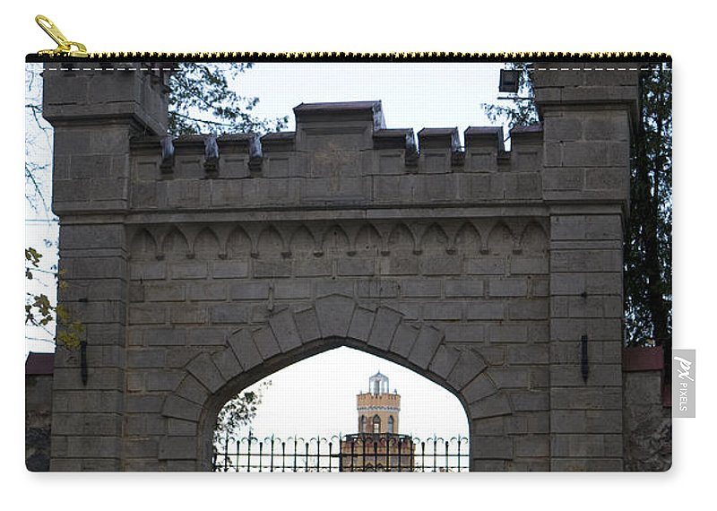 Travel Carry-all Pouch featuring the photograph The Gates Leading Into New Sigulda Castle by Jason O Watson