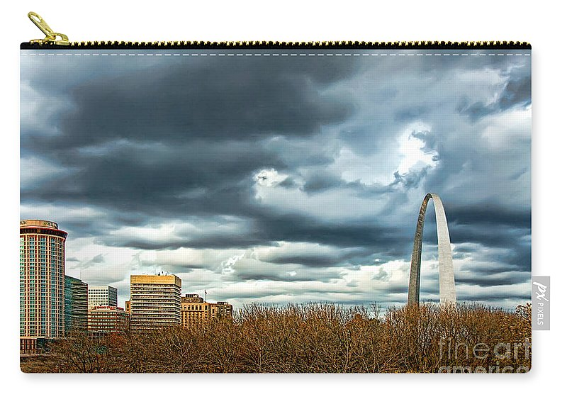Gateway Arch Carry-all Pouch featuring the photograph The Gateway Arch Downtown St. Louis by Cindy Tiefenbrunn