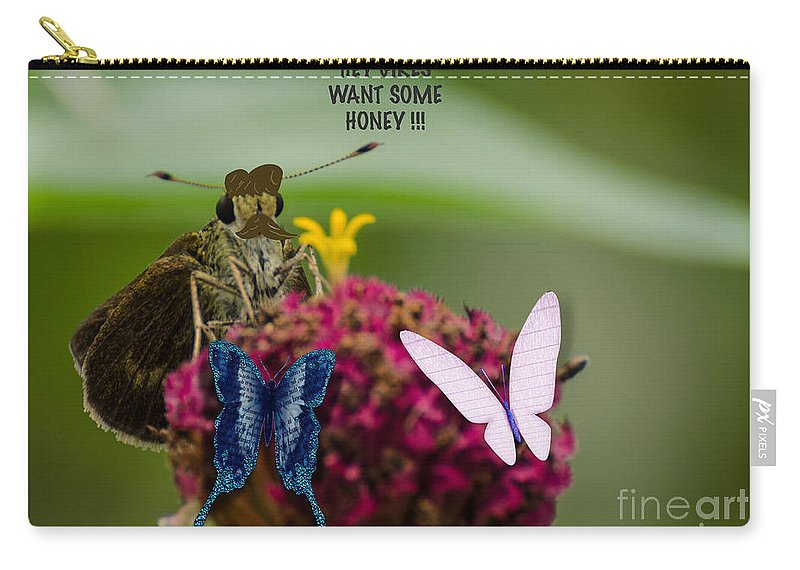 Digital Carry-all Pouch featuring the photograph The Gentleman by Donna Brown