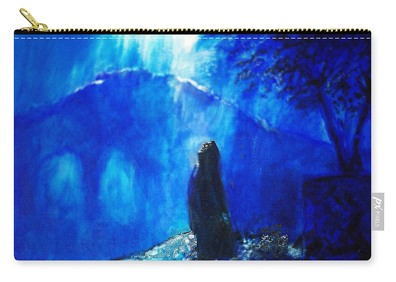 The Gethsemane Prayer Carry-all Pouch featuring the painting The Gethsemane Prayer by Seth Weaver