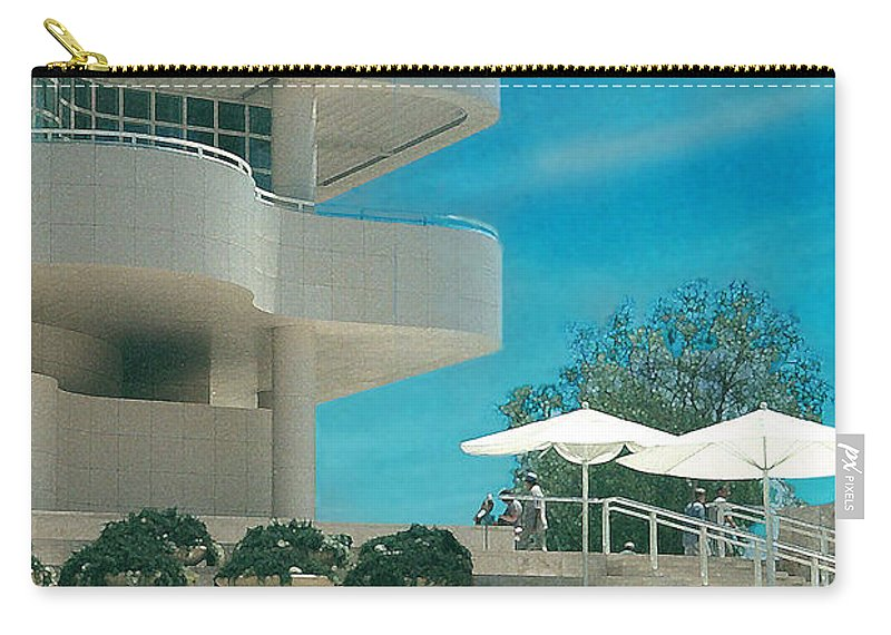 Landscape Carry-all Pouch featuring the photograph The Getty Panel 1 by Steve Karol