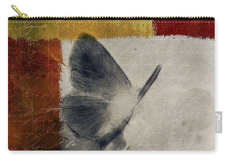 Butterfly Carry-all Pouch featuring the digital art The Giant Butterfly And The Moon - S09-22cbrt by Variance Collections