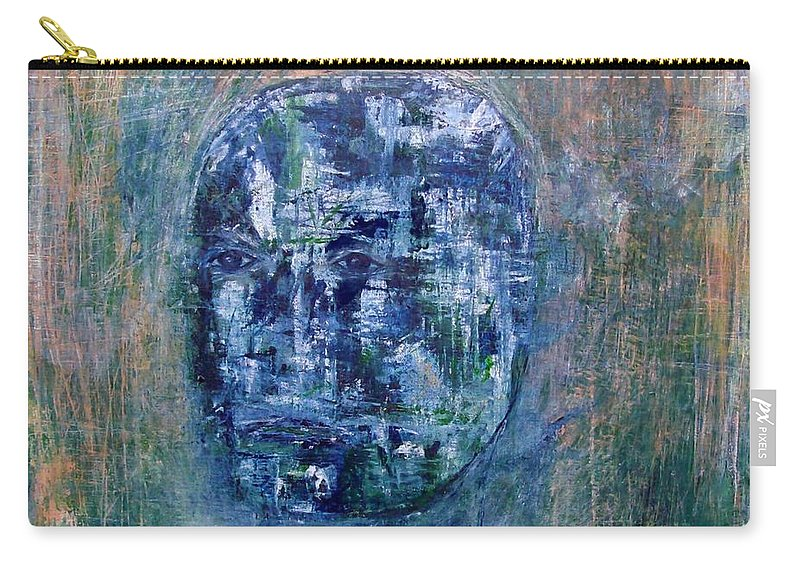 Contemporary Expressionism Carry-all Pouch featuring the mixed media The Gladiator by Linda Wimberly