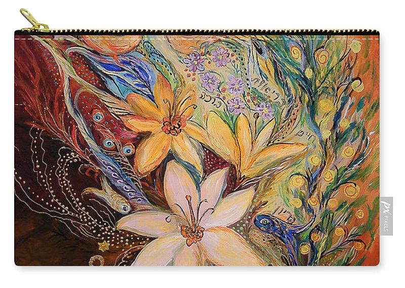 Original Carry-all Pouch featuring the painting The Golan Heights Lilies by Elena Kotliarker