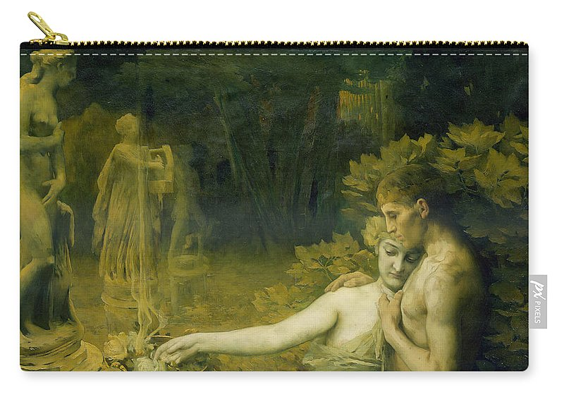 Aranykor Carry-all Pouch featuring the painting The Golden Age, 1897-98 by Janos Vaszary