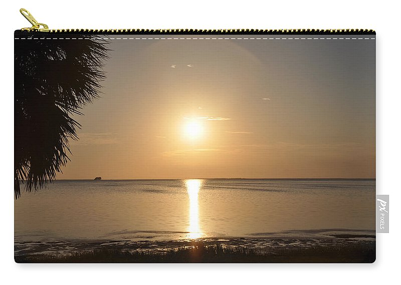 Golden Carry-all Pouch featuring the photograph The Golden Gulf Coast by Bill Cannon