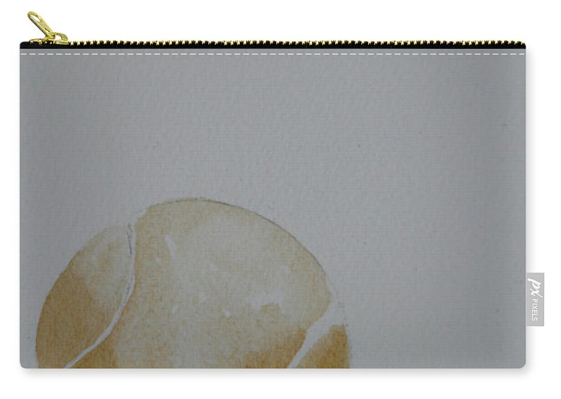 Tennis Ball Carry-all Pouch featuring the painting The Golden One by Susan Herber