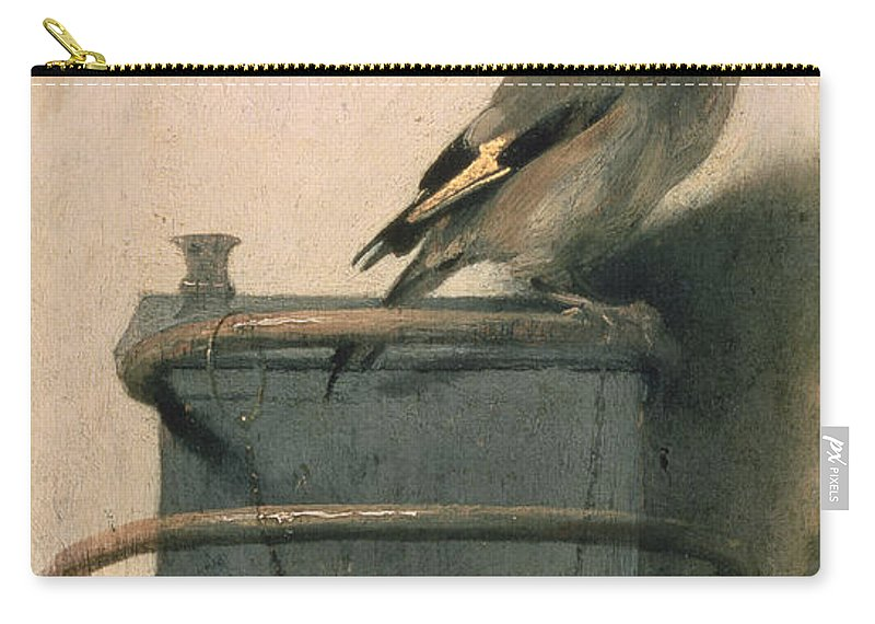 Bird Carry-all Pouch featuring the painting The Goldfinch by Carel Fabritius