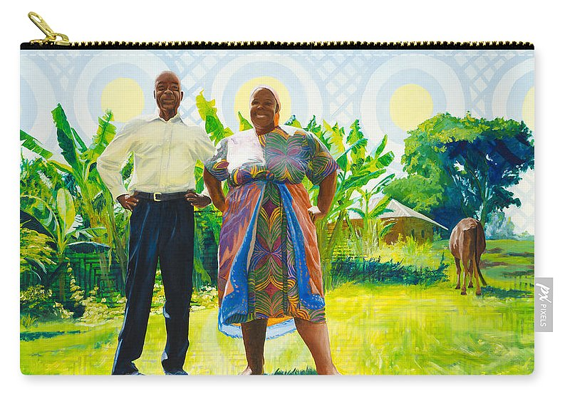 Africa Carry-all Pouch featuring the painting The Good Life by Lynn Hansen