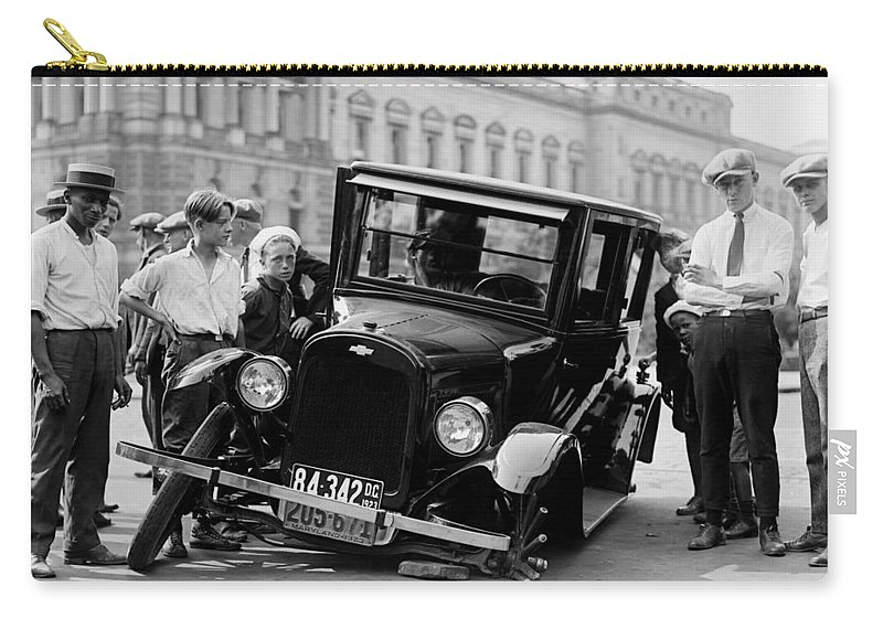 Black And White Carry-all Pouch featuring the photograph The Good Old Days by Mountain Dreams