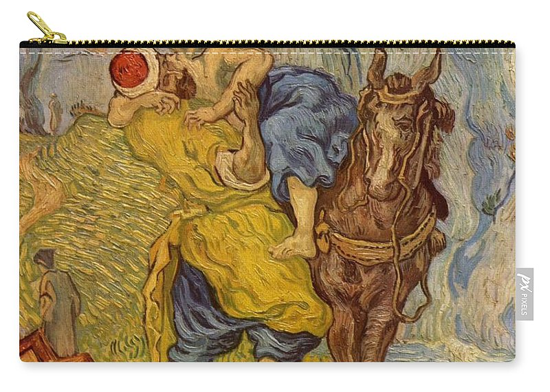 1890 Carry-all Pouch featuring the painting The Good Samaritan - After Delacroix by Vincent van Gogh