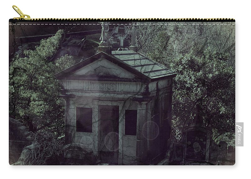 Gothic Carry-all Pouch featuring the digital art The Gothic Cemetery by Absinthe Art By Michelle LeAnn Scott