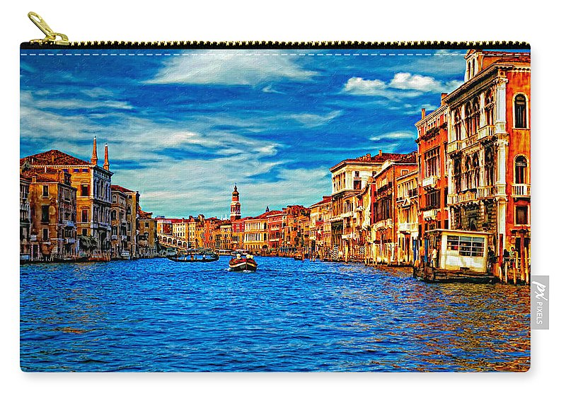 Venice Carry-all Pouch featuring the photograph The Grand Canal Impasto by Steve Harrington