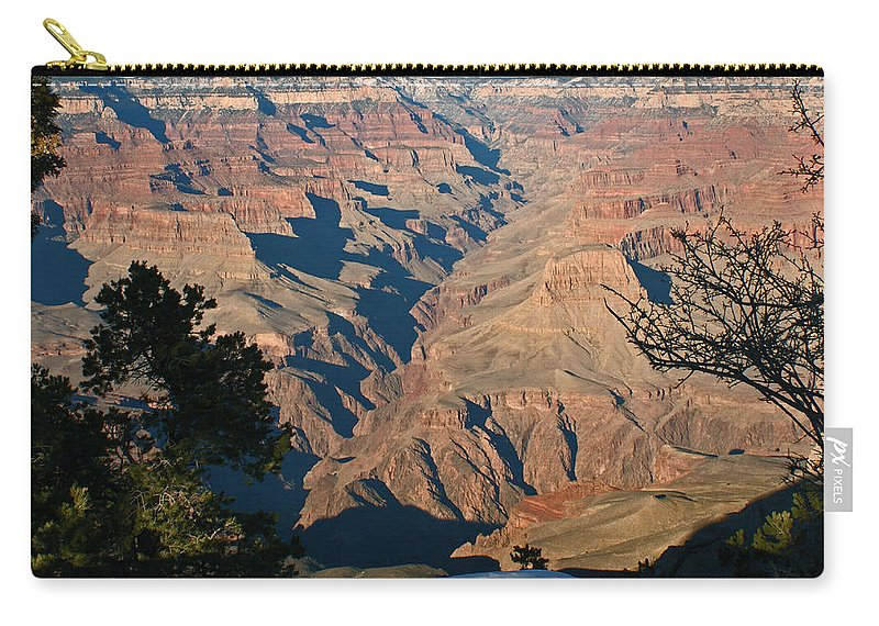 Canyons Carry-all Pouch featuring the photograph The Grand Canyon by Ernie Echols
