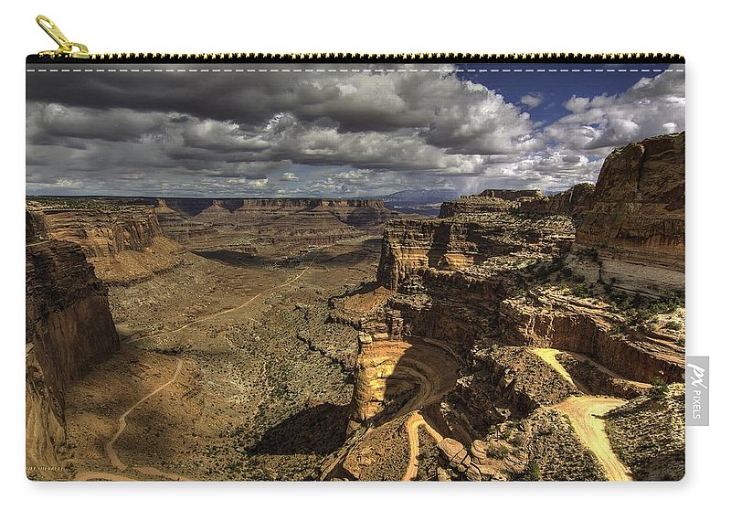 Panoramic Landscape Carry-all Pouch featuring the photograph The Grand Escape by Bill Sherrell
