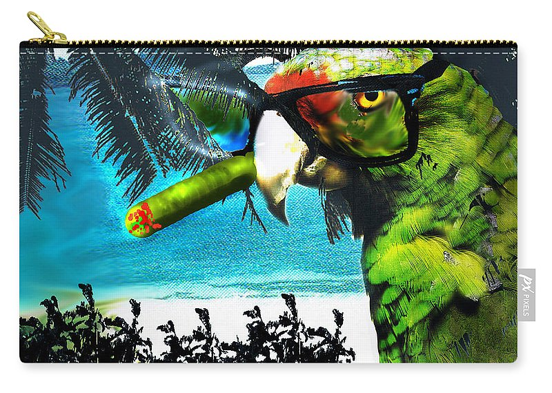 The Great Bird Of Casablanca Carry-all Pouch featuring the digital art The Great Bird Of Casablanca by Seth Weaver