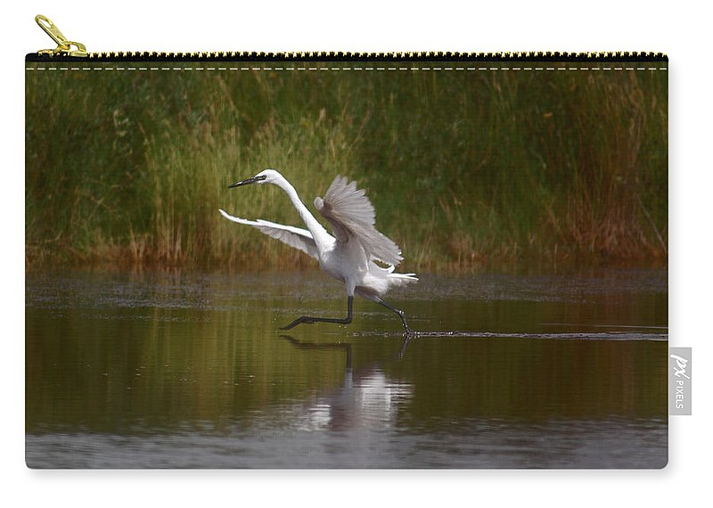 Water Carry-all Pouch featuring the photograph The Great Egret by Leticia Latocki