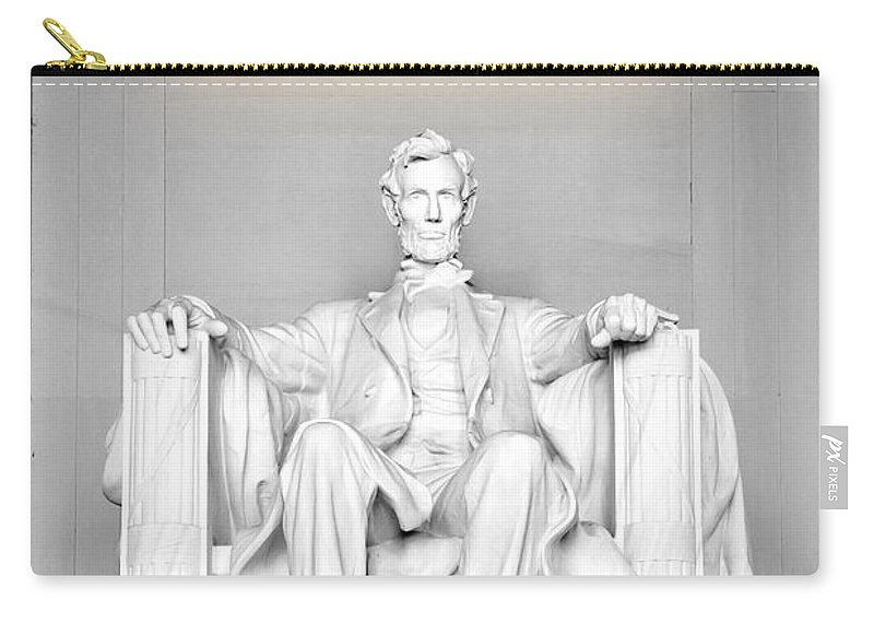 Lincoln Memorial Carry-all Pouch featuring the photograph The Great Emancipator by Greg Fortier