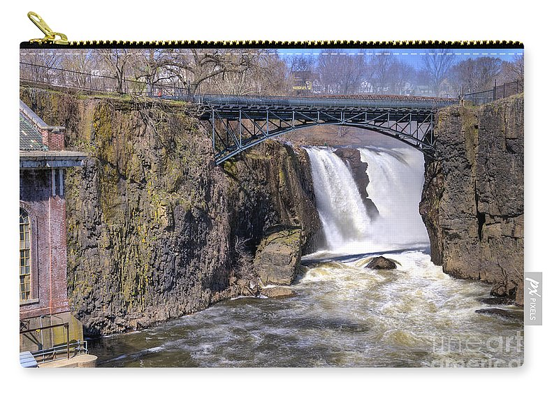 Great Falls Paterson Carry-all Pouch featuring the photograph The Great Falls by Anthony Sacco