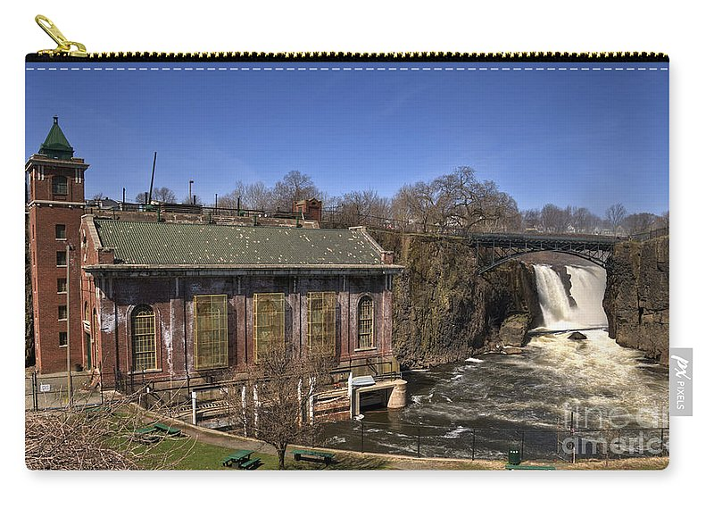 Great Falls Paterson Carry-all Pouch featuring the photograph The Great Falls In Paterson by Anthony Sacco