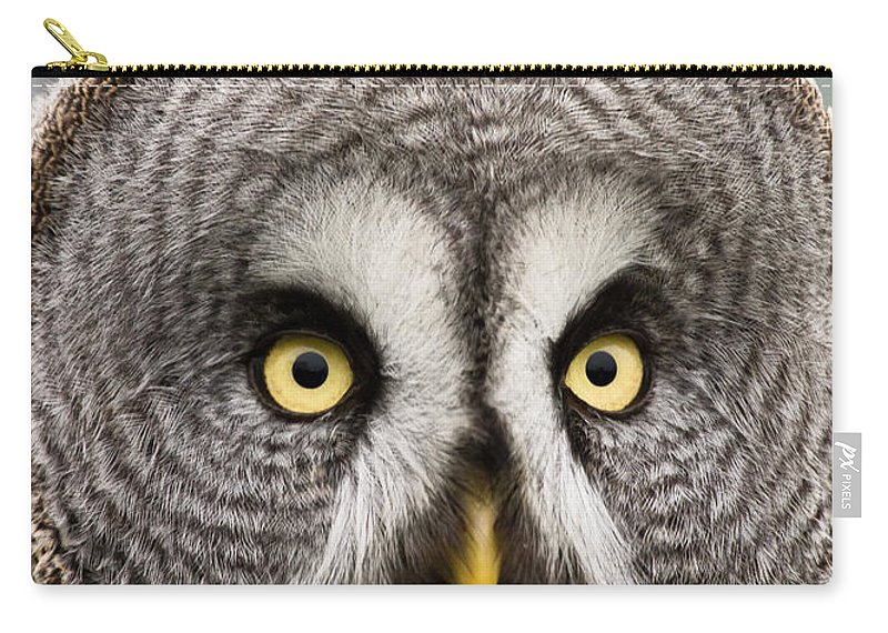 Great Grey Owl Carry-all Pouch featuring the photograph The Great Grey Owl by Scott Carruthers