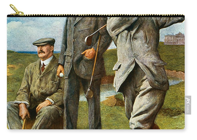 Golf Carry-all Pouch featuring the painting The Great Triumvirate by Clement Flower