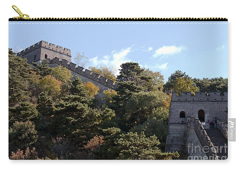 Watchtowers On The Great Wall Carry-all Pouch featuring the photograph The Great Wall 673 by Terri Winkler