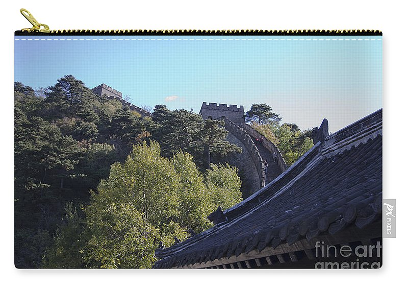 Ancient Watchtowers On The Great Wall Carry-all Pouch featuring the photograph The Great Wall 682 by Terri Winkler