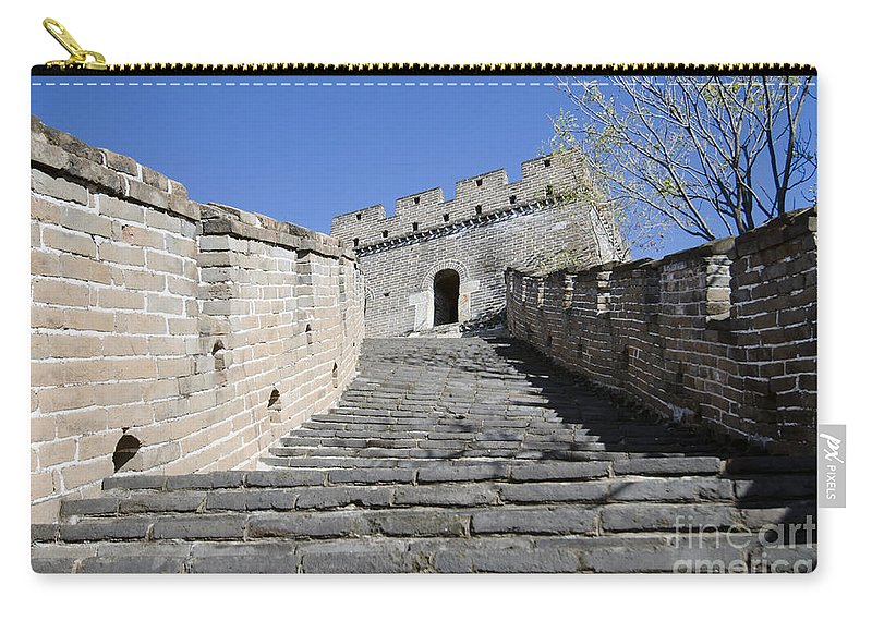 Stairway To Watchtower Carry-all Pouch featuring the photograph The Great Wall 721 by Terri Winkler