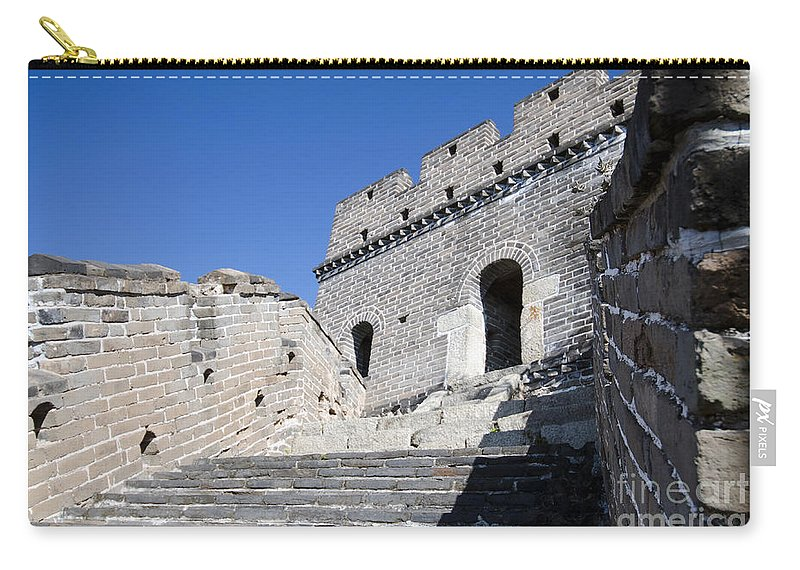 Stairway On The Great Wall Carry-all Pouch featuring the photograph The Great Wall 724 by Terri Winkler